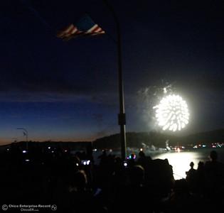 Watching Fourth of July fireworks over Lake Oroville from the Oroville Dam July 4, 2016 at the Oroville Dam in Oroville, Calif. (Emily Bertolino -- Mercury Register)