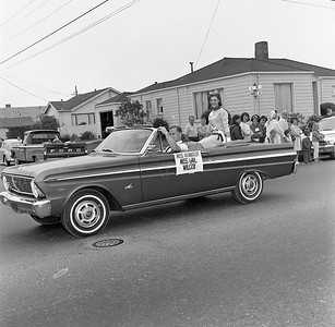 Miss Humboldt County Gail Wilcox appeared in the July 5, 1965 Eureka Active 20-30 Club Parade. (Times-Standard file photo)