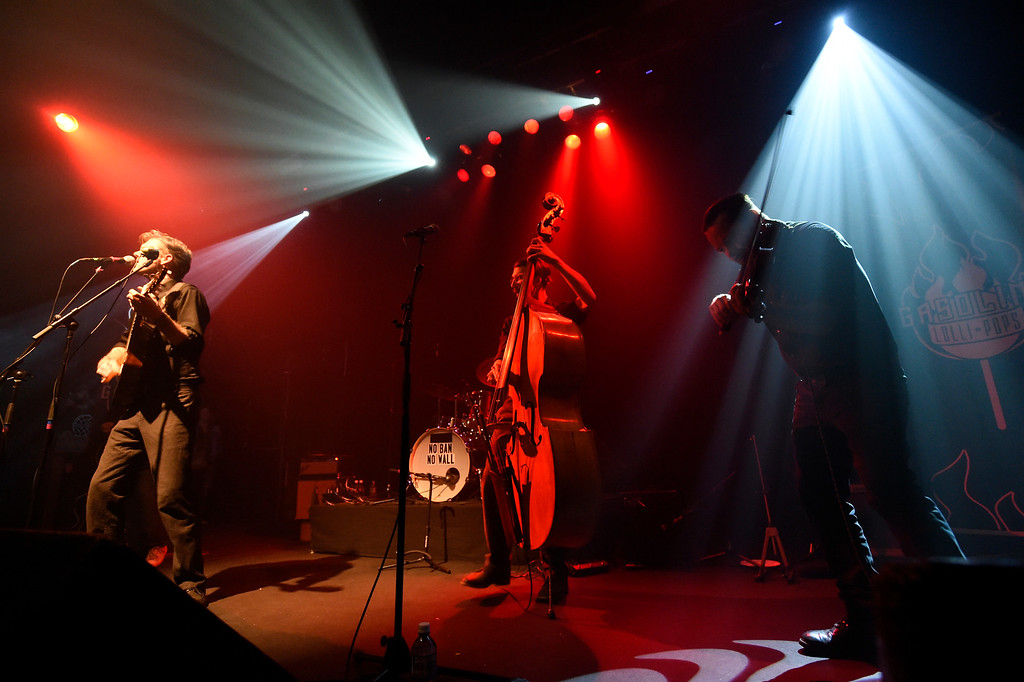 . The Gasoline Lollipops perform during a concert at the Fox Theatre on Tuesday in Boulder. For more photos of the concert go to www.dailycamera.com Jeremy Papasso/ Staff Photographer/ Feb. 14, 2017