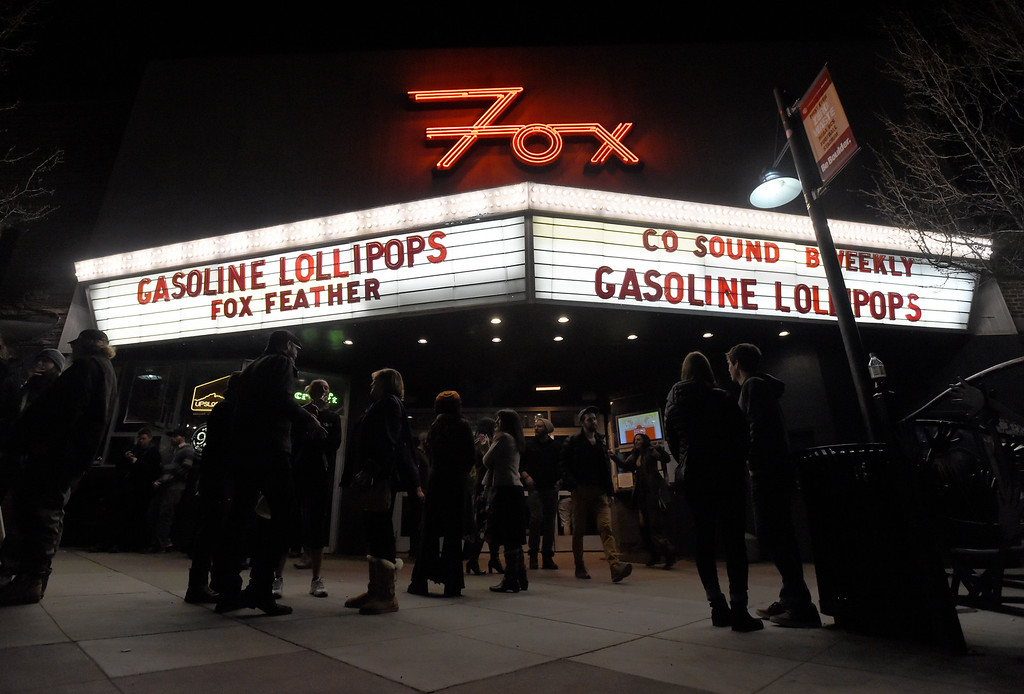 . People stand outside between bands during a concert at the Fox Theatre on Tuesday in Boulder. For more photos of the concert go to www.dailycamera.com Jeremy Papasso/ Staff Photographer/ Feb. 14, 2017