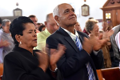Mom and dad celebrate their son's ordination