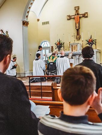 LatinMass St  Patricks Fr  Klein Wheelchair-4