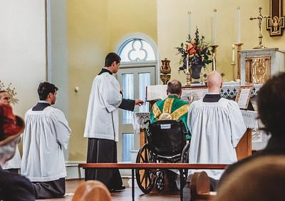 LatinMass St  Patricks Fr  Klein Wheelchair-2