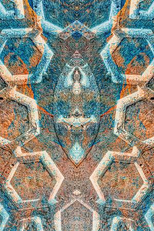 motled mosaic ...