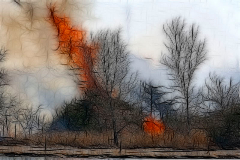 Lake Hefner fire