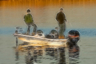 Fishing on Lake Hefner