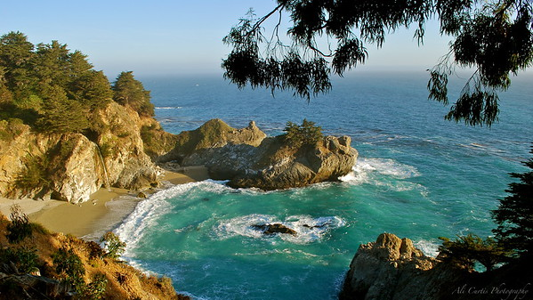 McWay Falls Julia Pfeiffer State Park Big Sur, California  This was my first sunset with a DLSR in hand.