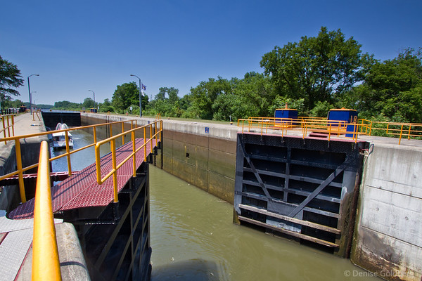 lock opening, New York State Canal System
