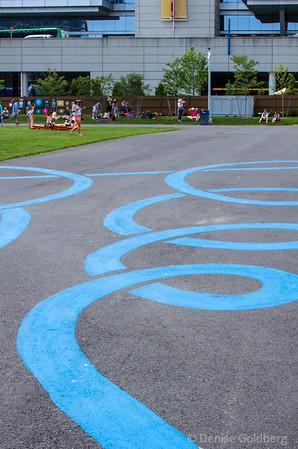 sidewalk art, at the Lawn on D