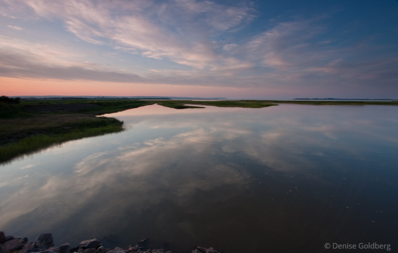 Late day reflections, Wolfville, Nova Scotia