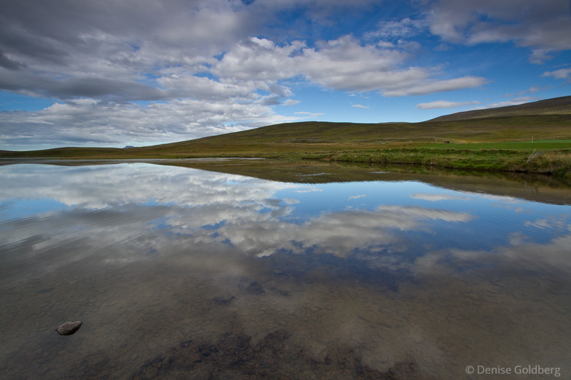 "Reflections along the road captured my eyes as I drove - a ""must stop"" spot! (Along the Ring Road, Iceland)"