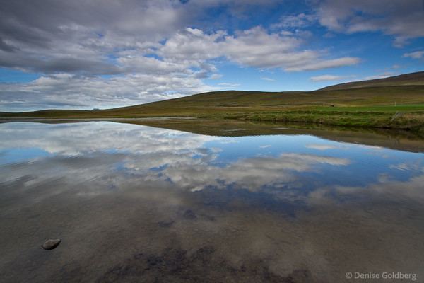 """Reflections along the road captured my eyes as I drove - a """"must stop"""" spot! (Along the Ring Road, Iceland)"""