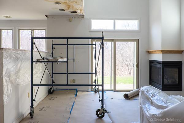 living room :: set for demolition / reconstruction