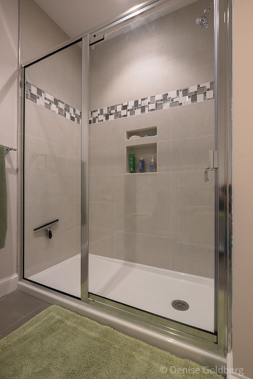 shower with a door