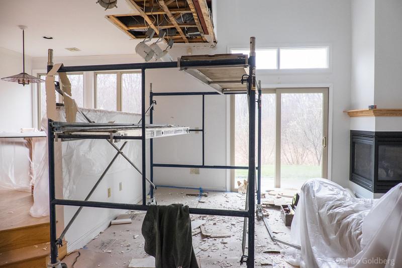 living room :: demolition in progress