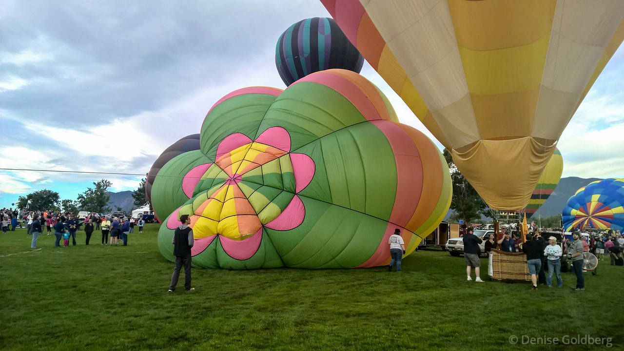 inflating balloons, at the Colorado Springs Labor Day Liftoff