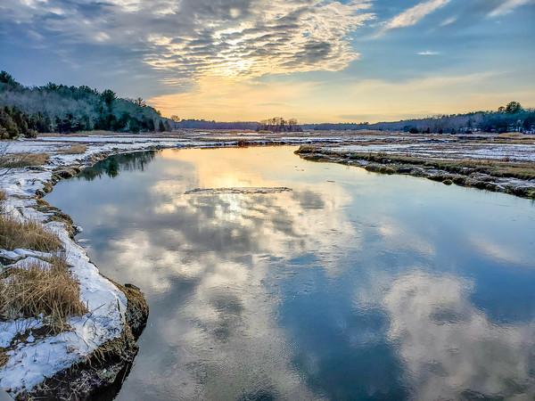 Parker River at sunset