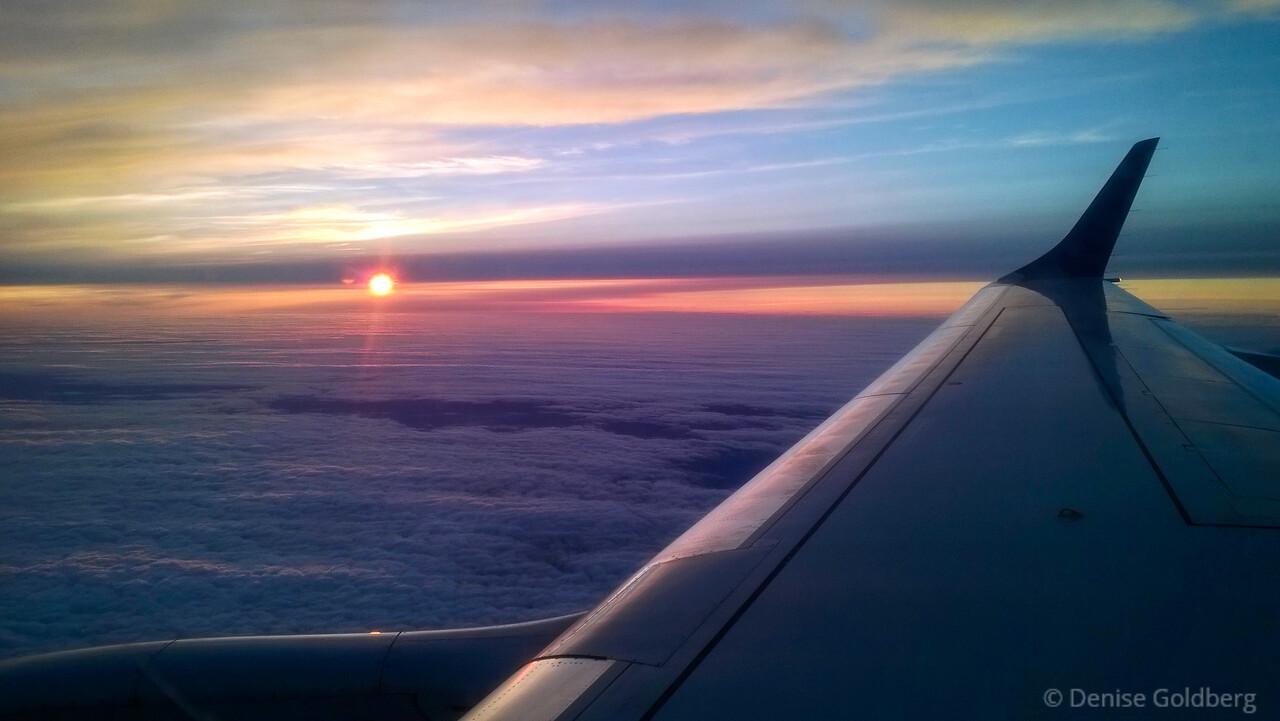 the setting sun, somewhere between Boston & Philadelphia