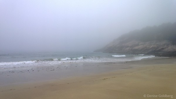 Sand Beach in fog