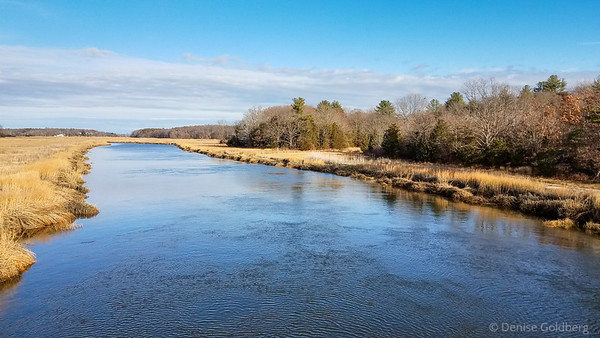 Parker River, from a bridge on route 1