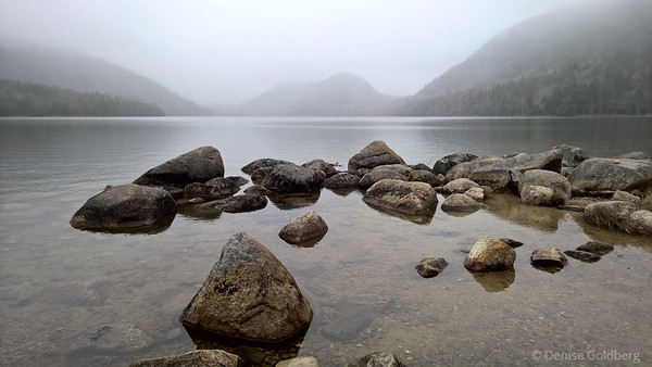 rocks in Jordan Pond