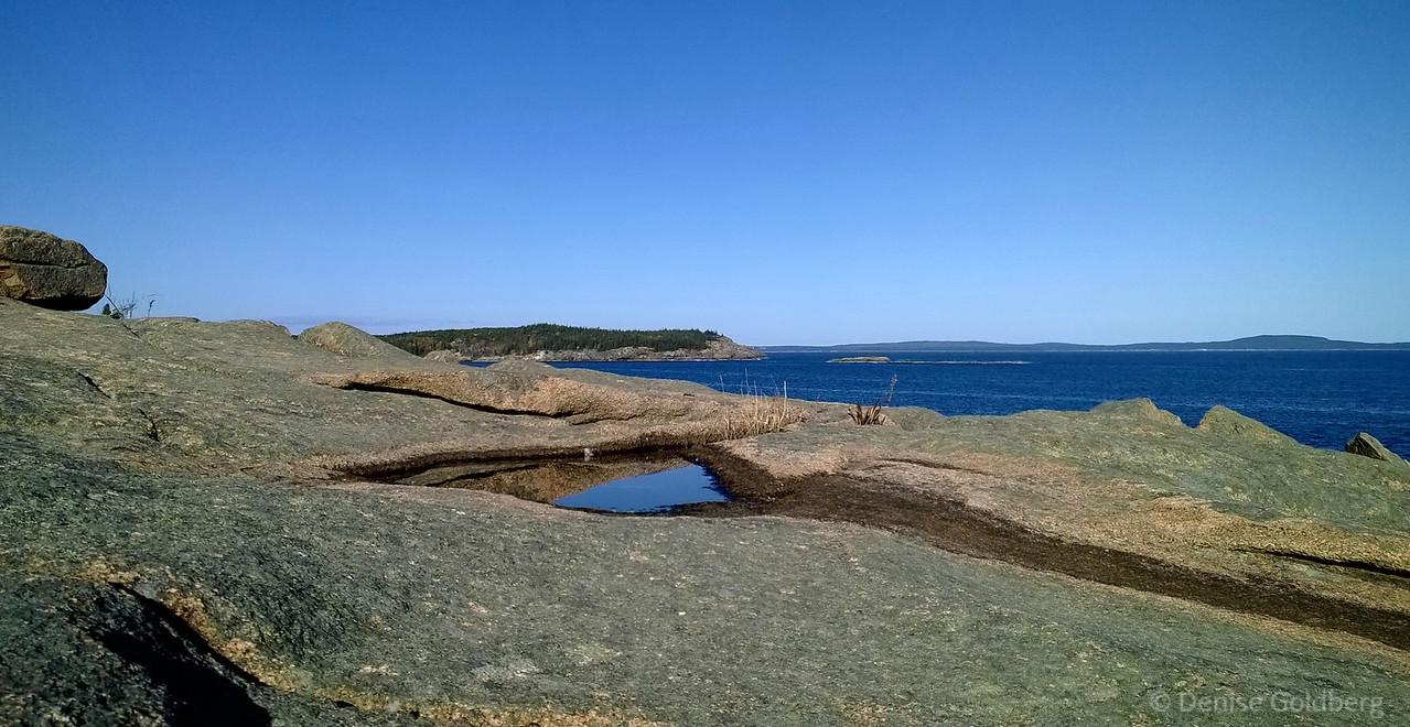 rocks and rocks, along Park Loop Road, Acadia National Park
