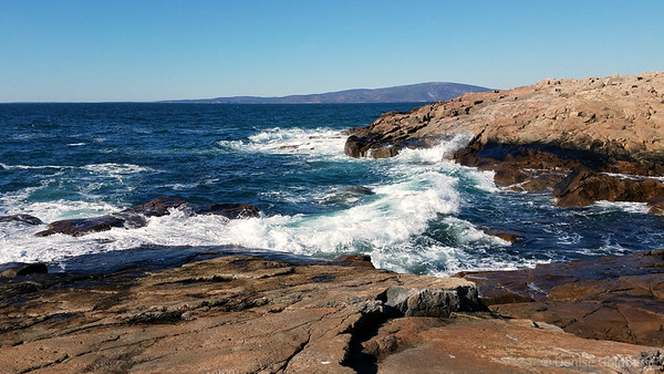 waves at the tip of the Schoodic Peninsula