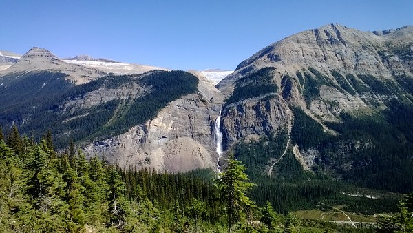 Takakkaw Falls from high on the other side of the valley, Yoho National Park