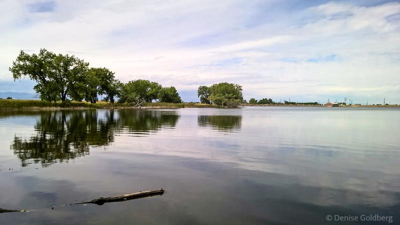 reflections in Ladora Lake, Rocky Mountain Arsenal National Wildlife Refuge