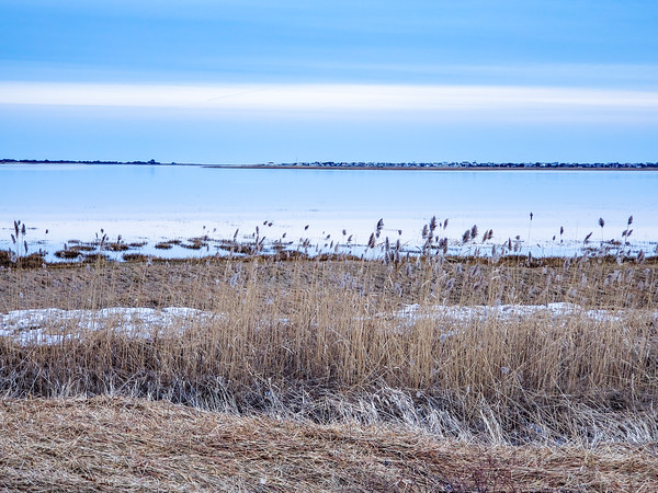 blue hour, looking to Plum Island