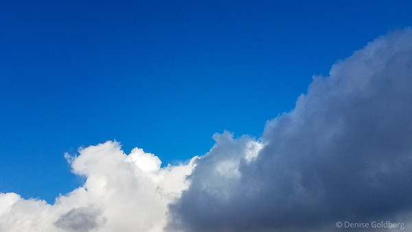 clouds and pure blue sky