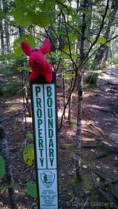 sign encountered as we walked across the boundary of Acadia National Park