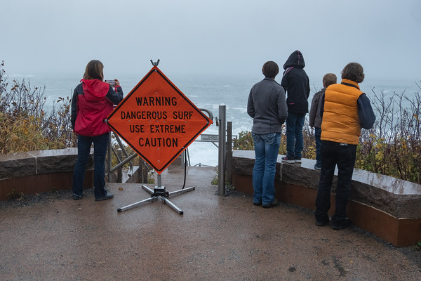 warning, dangerous surf