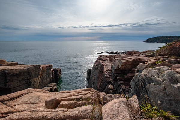 a view from Ocean Path, Acadia National Park