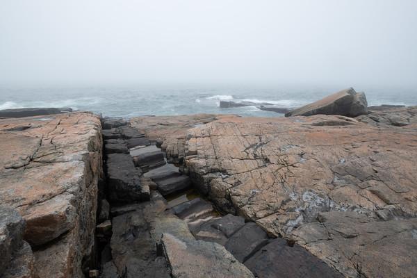 fog on the Schoodic Peninsula