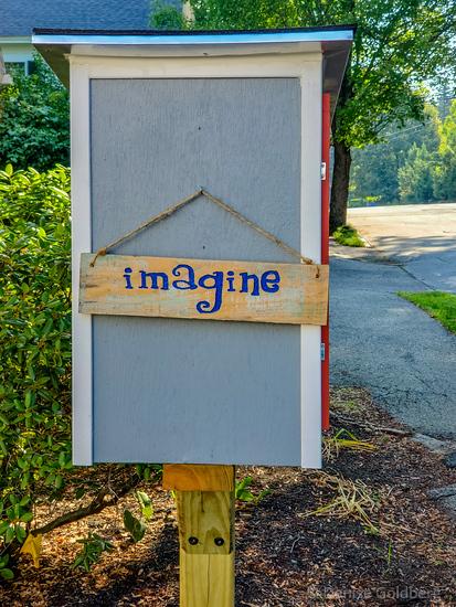 a sign, imagine