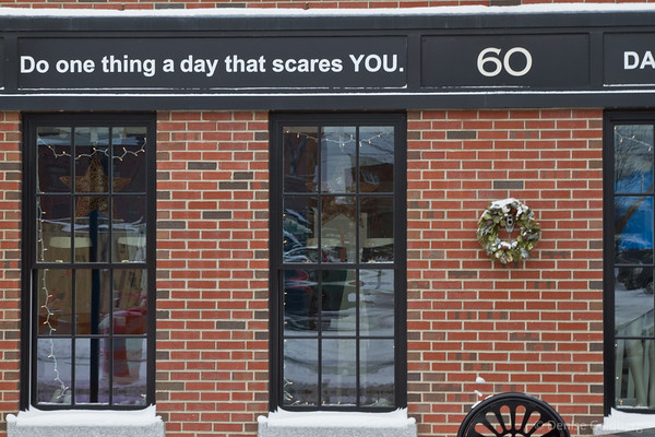 today's goal:do one thing a day that scares YOU.