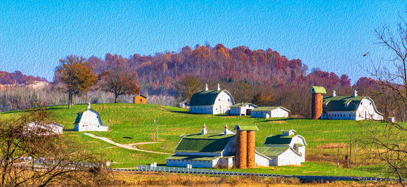 oil paint 4 barns near French Lick, IN-6893