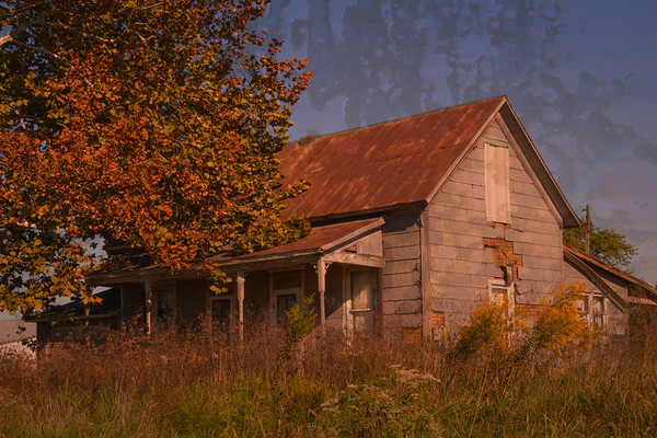 old house-rusty metal