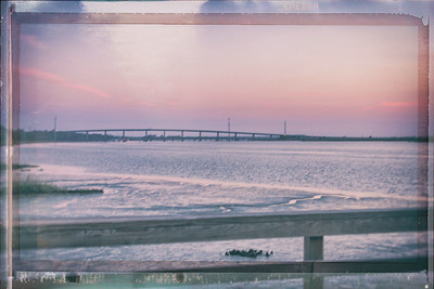 Bridge to Jekyll Island in the Sunset