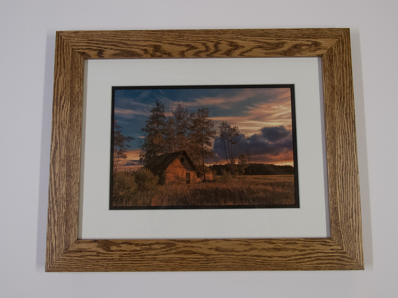 "Stained 2"" Oak Frame with Double Mat"