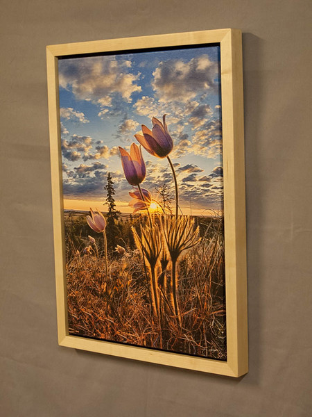 Canvas with Natural Maple Floating Frame