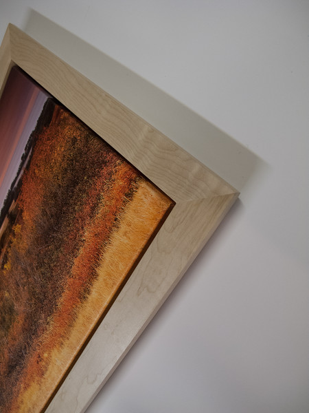 """Canvas with 2"""" Natural Maple Floating Frame"""