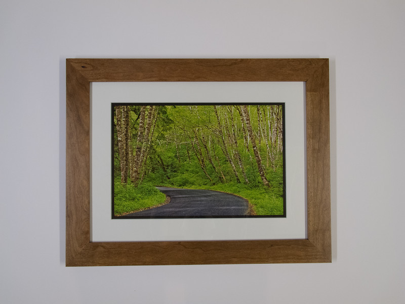"""Stained Cherry 2"""" Frame with Double Mat"""