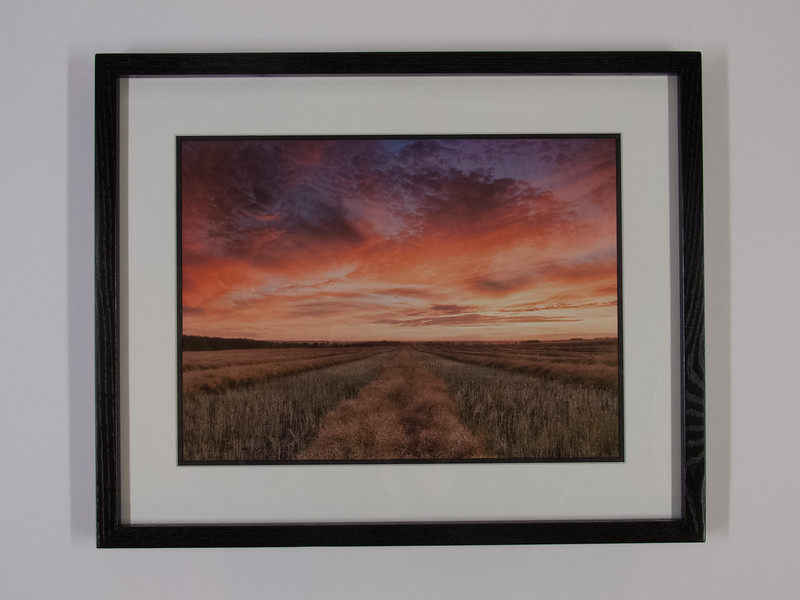 Black Gallery Style Frame & Double Matted