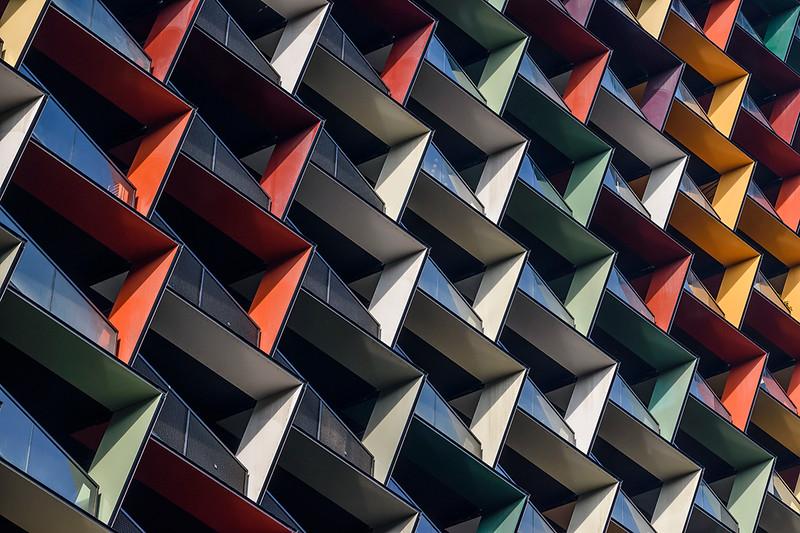 Colourful balconies #1