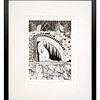 Pine Martin in the Pine Forest, Original Pen & Ink artwork by Cathy MacLeod