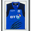 Scotland rugby shirt signed by Stuart Hogg.