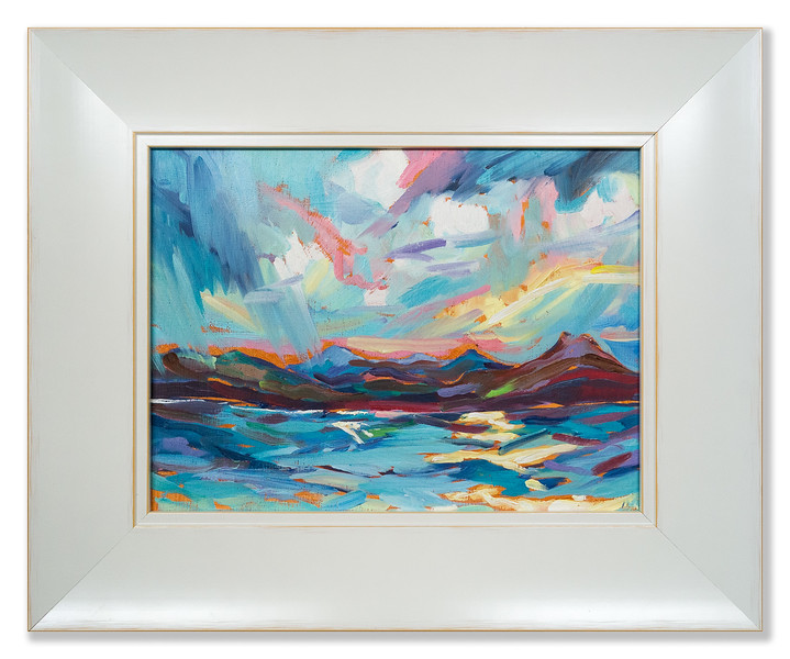 Original oil painting, view over Cromarty Firth