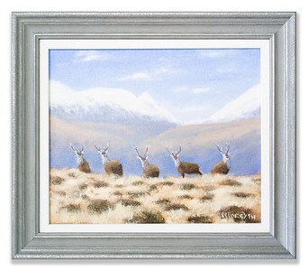 Original Oil Painting: Highland Stags by Robert Forsyth